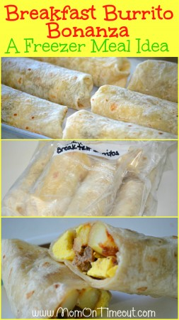 Breakfast Burrito Bonanza - A Freezer Meal Idea