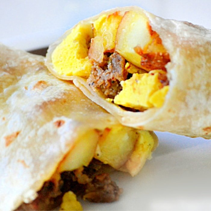 Easy Breakfast Burritos Freezer Friendly Mom On Timeout