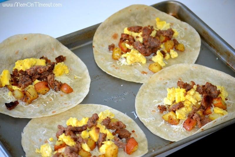 Make the burritos