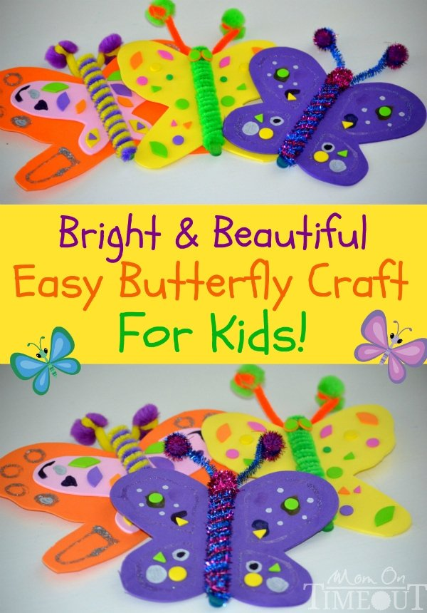 Bright and beautiful butterfly craft mom on timeout for Butterflies for crafts and decoration