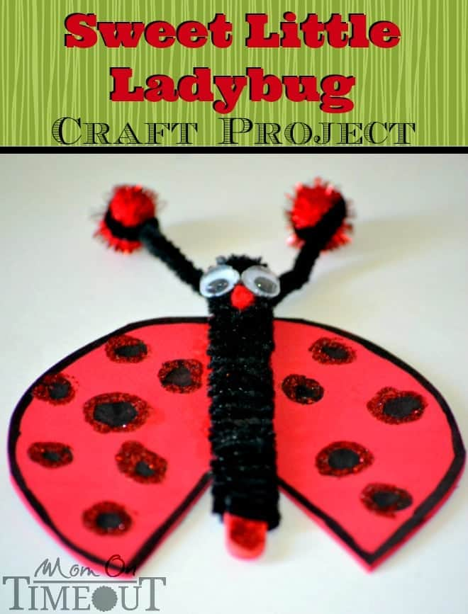 Sweet Little Ladybug Craft Project from MomOnTimeout.com An easy ladybug craft project for kids of all ages!