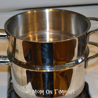 double boiler on stove top