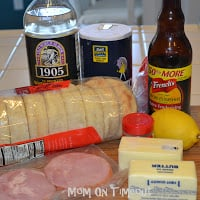 eggs benedict ingredients on kitchen counter