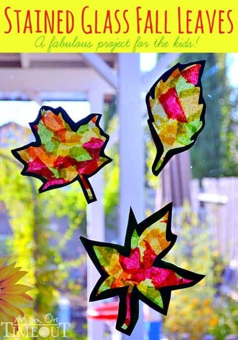 Stained Glass Fall Leaves Craft With Template Mom On Timeout