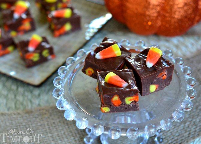 Candy Corn Fudge | MomOnTimeout.com #halloween #fudge #recipe