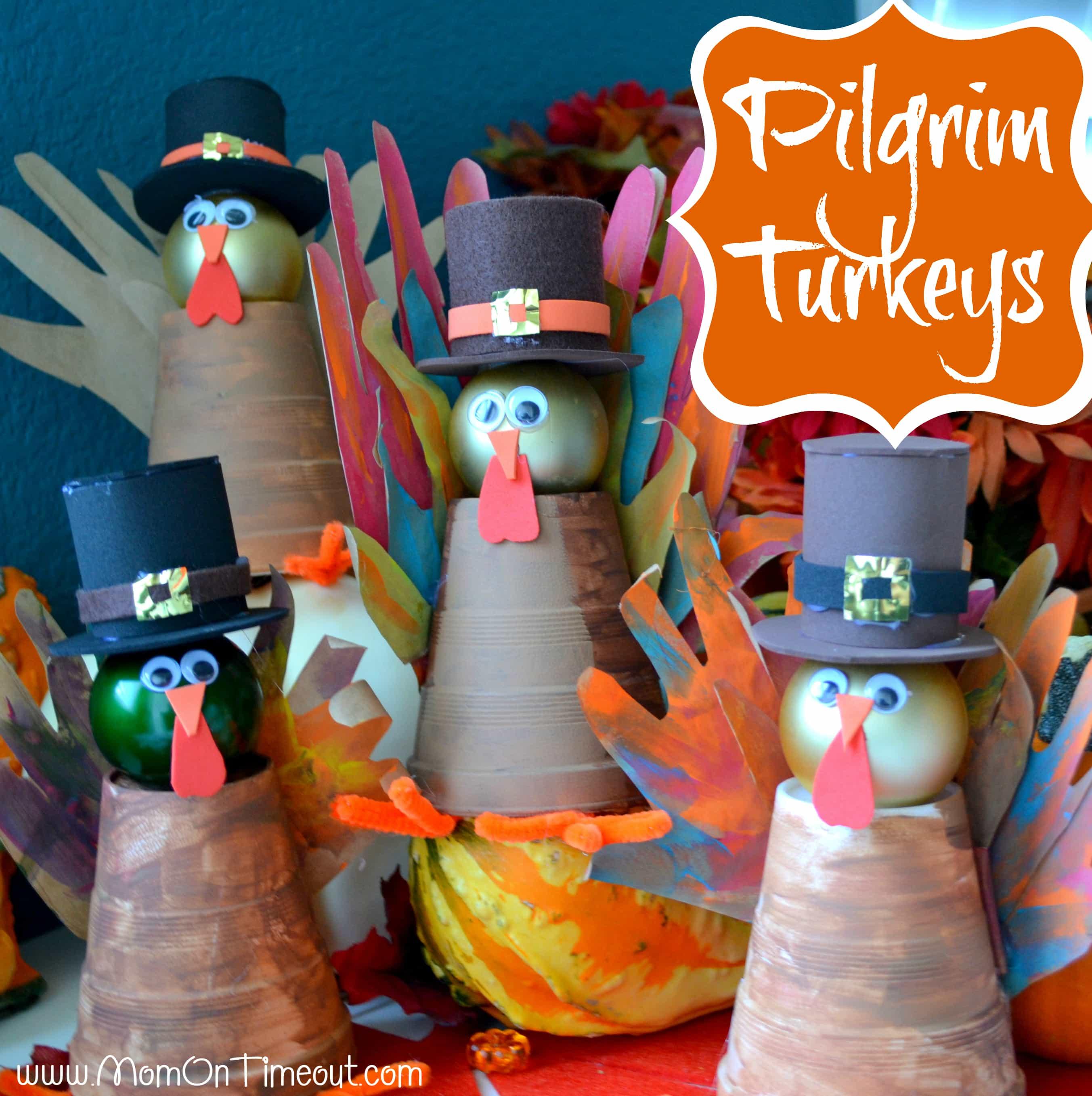 Pilgrim Turkeys…A Handprint Thanksgiving Craft!