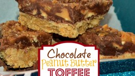 Chocolate Peanut Butter Toffee Bars