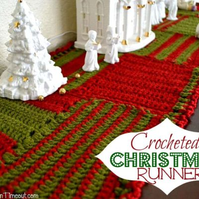 Crocheted Christmas Runner