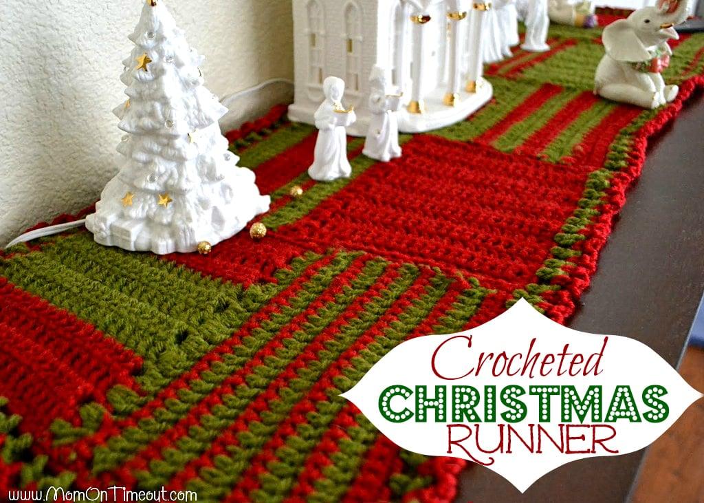 Crocheted Christmas Runner