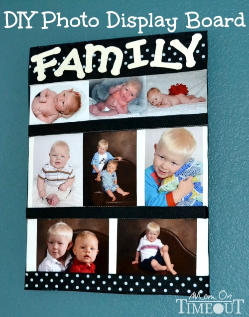 DIY Photo Display Board at MomOnTimeout.com