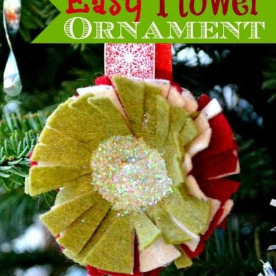 Felt Flower Ornament {Tutorial}