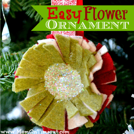 Easy Felt Flower Ornaments
