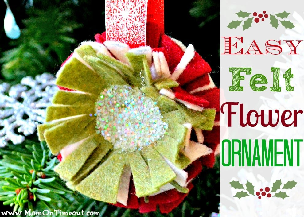 Easy Felt Flower Ornaments Tutorial