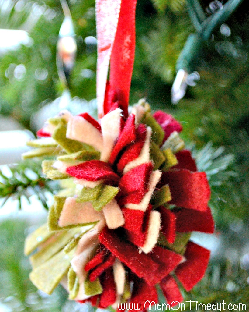 Felt Flower Ornament Side View