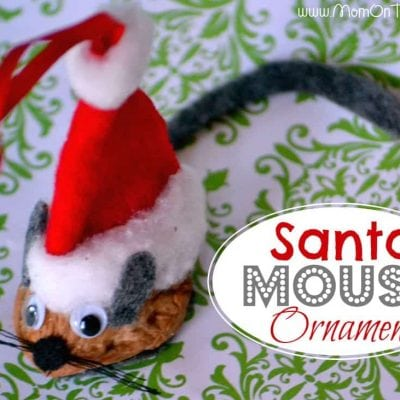 Santa Mouse Christmas Ornament Tutorial