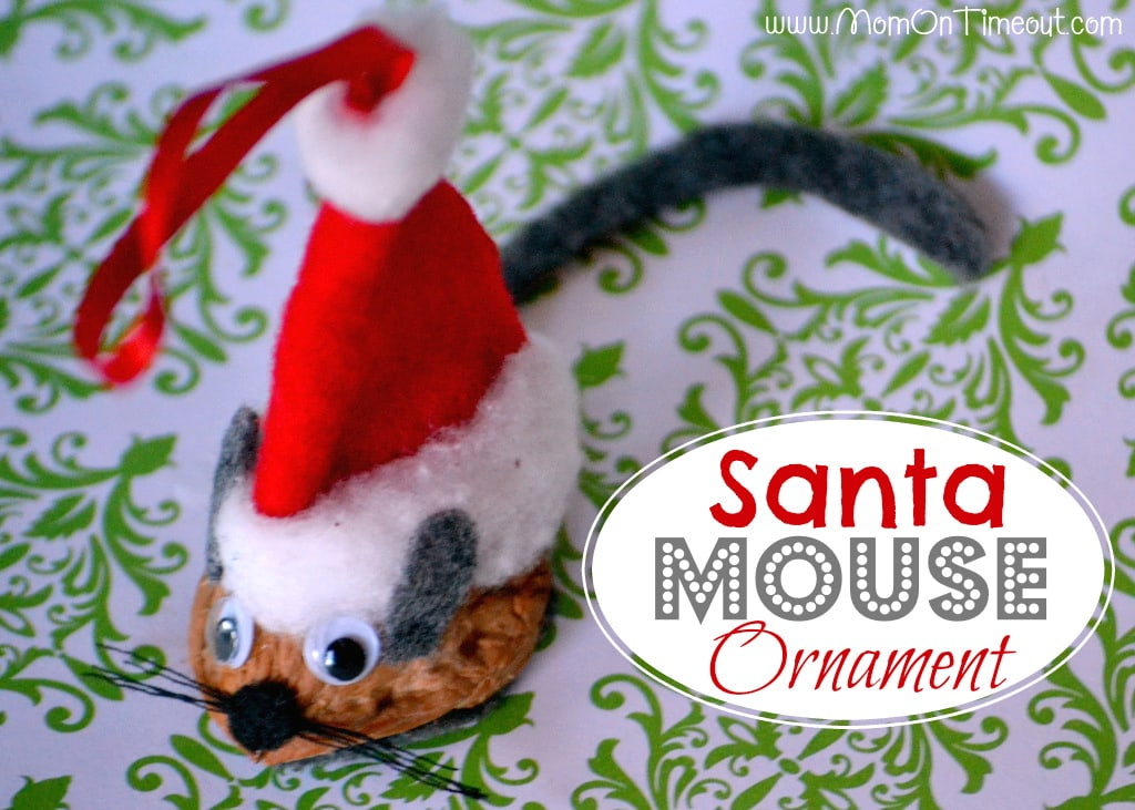 Santa Mouse Christmas Ornament Tutorial