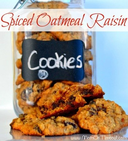 Spiced Oatmeal Raisin Cookies   Mom On Timeout