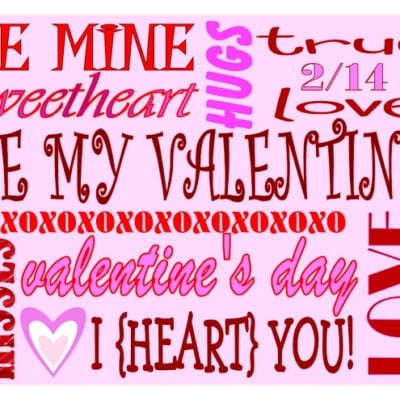 8 Different Valentine's Day Subway Art Printables | Mom On Timeout
