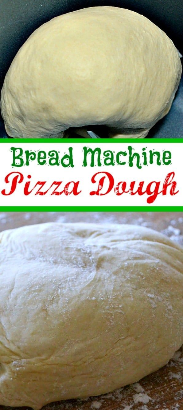 The BEST pizza dough recipe and it's made in the bread machine! So easy, so delicious, so versatile! You're going to want to make this at least once a week! // Mom On Timeout #pizza #dough #recipe #breadmachine #dinner #dinnertime