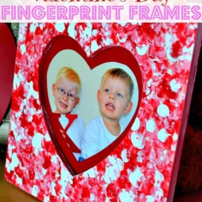 Valentine's Day Fingerprint Frames {Craft}
