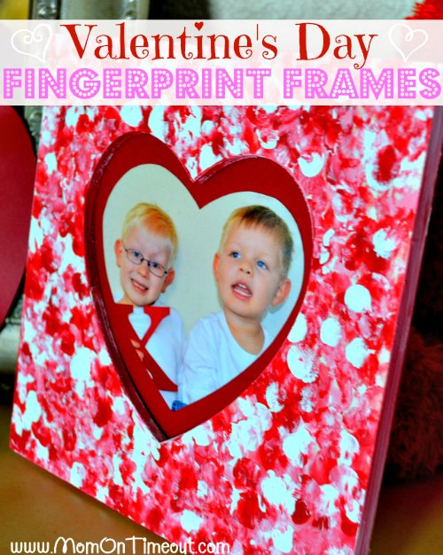 valentines day fingerprint frames from momontimeoutcom fun for the little ones inexpensive