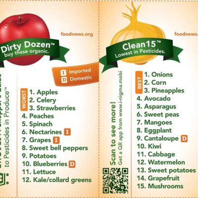 Buying Organic: The Dirty Dozen and Clean 15
