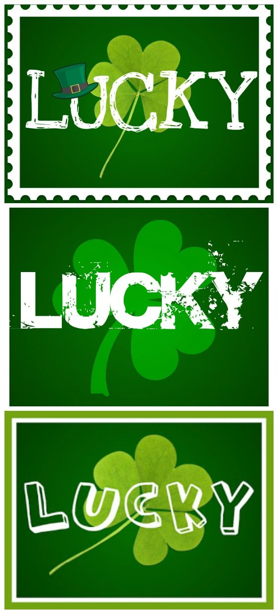 An easy way to spruce up your house with some St. Patrick's Day decor! Your choice of 5 Lucky St. Patrick's Day printables! | MomOnTimeout.com