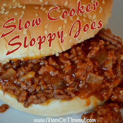 Slow Cooker Sloppy Joes | MomOnTimeout.com