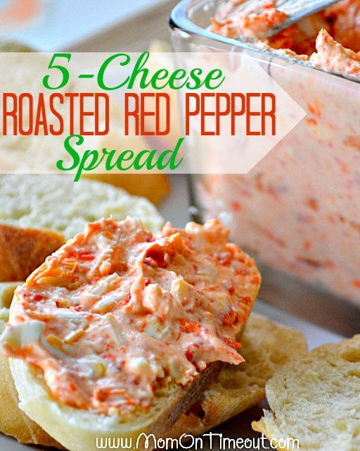 5 Cheese Roasted Red Pepper Spread