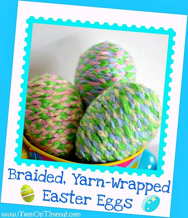 Braided Yarn Wrapped Plastic Easter Eggs Craft Mom On Timeout