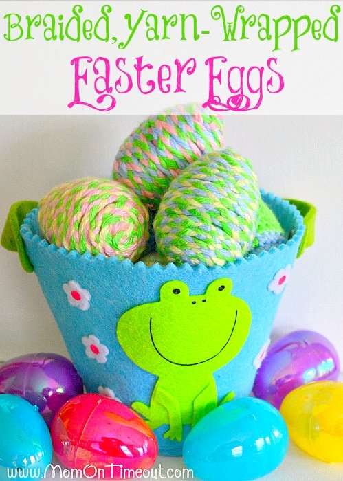 Braided Yarn Wrapped Easter Eggs