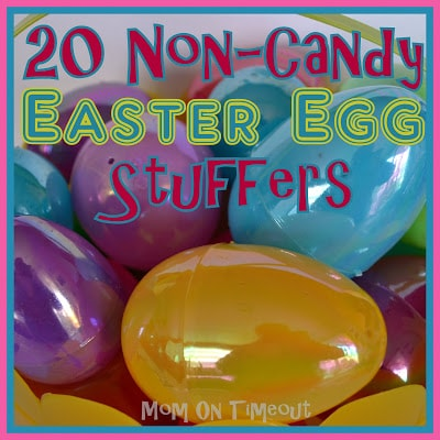 20+ Non-Candy Easter Egg Stuffers - It's that time of year when we're filling eggs for the annual Easter Egg Hunt and we're TRYING to limit the amount of candy. Here are some great ideas for stuffing those Easter eggs with fun items that aren't candy! | Mom On Timeout 1y 1y Saved to Easter