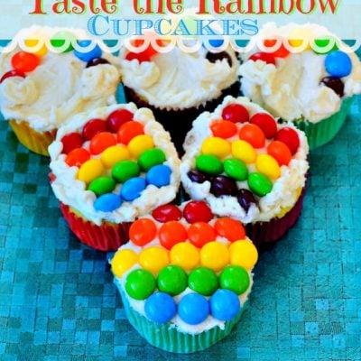 Taste The Rainbow Cupcakes