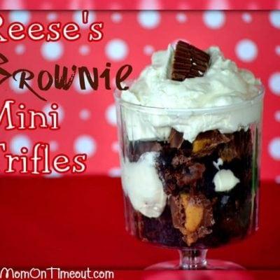Reese's Brownie Mini Trifles