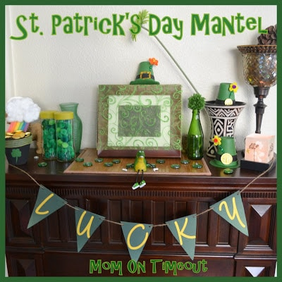 My St. Patrick's Day Mantel