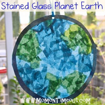 Stained Glass Planet Earth {Earth Day Craft}
