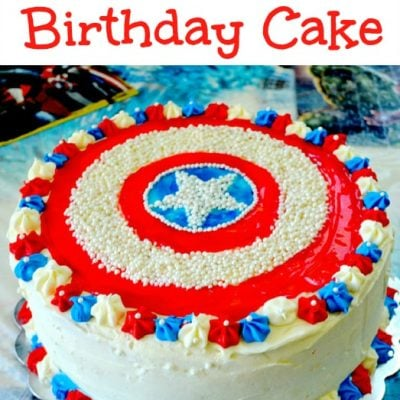 Captain America Birthday Cake!