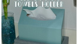 "DIY ""Stone"" Kleenex Hand Towels Holder #CGC #CleanHands #spon"