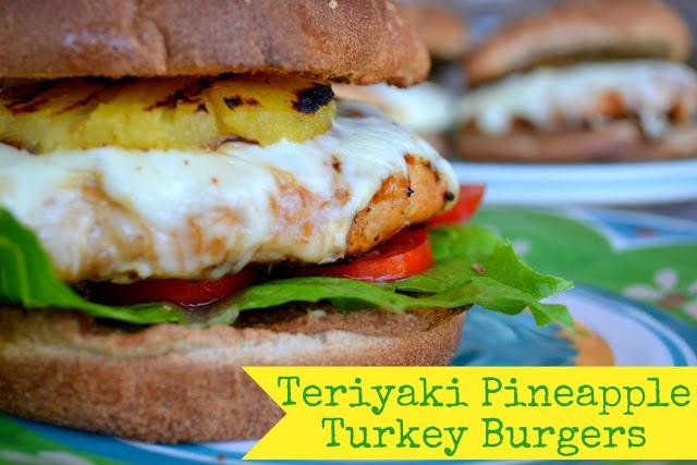 Teriyaki Pineapple Turkey Burgers | MomOnTimeout.com