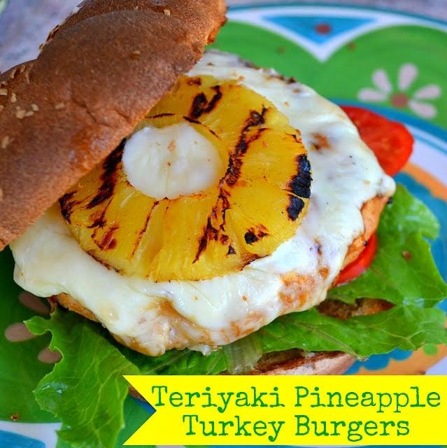 Teriyaki Pineapple Turkey Burgers   MomOnTimeout.com