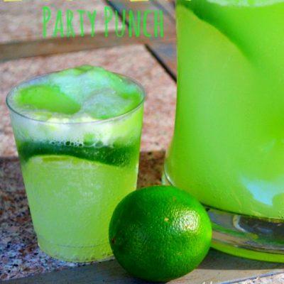 Lemon-Lime (HULK) Party Punch Recipe