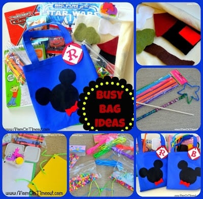 Busy Bag Activities - Mom On Timeout | Felt Boards, Wand-Making Kit, Bracelet Kit, Create-Your-Own Book Kits, & more! #kids #busybags