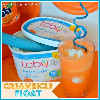 Creamsicle Float with Frozen Yogurt