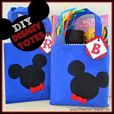 {DIY} Disney Tote Bags! {Craft}