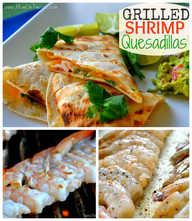 Grilled Shrimp Quesadillas | MomOnTimeout.com