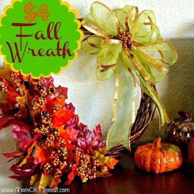 $4 Fall Wreath {Dollar Tree Craft}