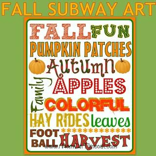 FREE Fall Subway Art Printable from MomOnTimeout.com #free #printable #fall