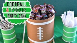 Football Field Party Cans