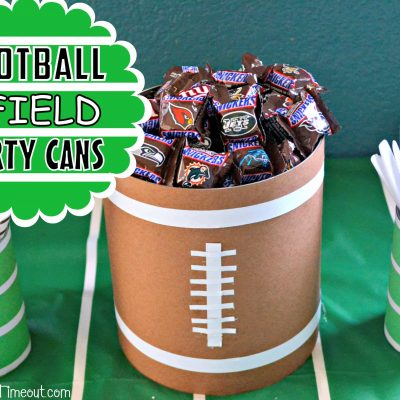 Football and Field Party Cans