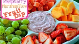 Raspberry Marshmallow Fruit Dip